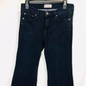 Free People Flare Boot Cut Stretch Blue Jeans 28